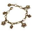 <strong>Sweet Romance</strong> Jasmine Flowers Crystal Charm Bracelet