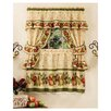 "<strong>Achim Importing Co</strong> Apple Orchard Cottage 57"" Valance and Tier Set"