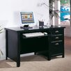 <strong>Tribeca Loft Single Pedestal Computer Desk</strong> by kathy ireland Home by Martin Furniture