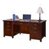 <strong>kathy ireland Home by Martin Furniture</strong> Tribeca Loft Cherry Double Pedestal Executive Desk