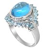 <strong>DeBuman</strong> Genuine White Gold Blue Topaz Ring