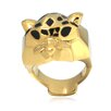 DeBuman Enamel Leopard Ring