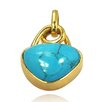 <strong>DeBuman</strong> 14K Gold Turquoise Pendant