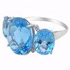 DeBuman 10K White Gold Gemstone Ring