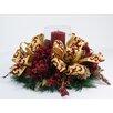 Creative Displays, Inc. Fancy Ribbon Hydrangea Candle Centerpiece