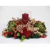 Creative Displays, Inc. Artichoke Berry Country Ribbon Candle Centerpiece