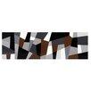Sunpan Modern Grey Cubism Graphic Art on Canvas