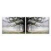 Artistic Bliss Gray Tree 2 Piece Photographic Print Set