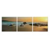 Artistic Bliss Coastal Sunset View 3 Piece Photographic Print Set