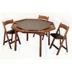 "<strong>57"" Maple Contemporary Folding Poker Table Set</strong> by Kestell Furniture"