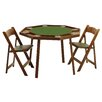 "<strong>46"" Oak Compact Folding Poker Table Set</strong> by Kestell Furniture"