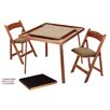 "<strong>35"" Oak Folding Card Table Set</strong> by Kestell Furniture"