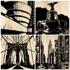 Selamat New York City 4 Piece Graphic Art Plaque Set