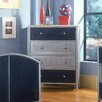 Hillsdale Furniture Universal Youth Chest in Navy and Silver