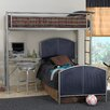 Universal Youth Twin Loft Bed with Built-In Ladder and Desk