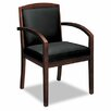 <strong>Leather Chair with Wood Accents</strong> by Basyx by HON