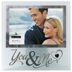 "Malden 4"" x 6"" You and Me Silver Glass Picture Frame"