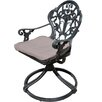 Innova Hearth and Home Rosette Swivel Rocking Chair with Cushion