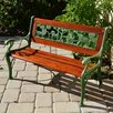 Innova Hearth and Home Wild Animal Cast Iron and Hardwood Park Bench