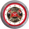 "<strong>Neonetics</strong> 15"" Fire Department Neon Clock"