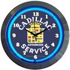 "Neonetics Cars and Motorcycles 15"" Cadillac Service Wall Clock"