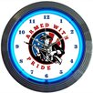 "Neonetics 15"" Armed with Pride Firearms Wall Clock"