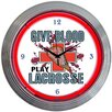 "<strong>Neonetics</strong> Sports 15"" Lacrosse Wall Clock"