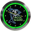 "<strong>Neonetics</strong> 15"" Pool Shark Wall Clock"