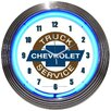 """<strong>Cars and Motorcycles 15"""" Chevy Truck Wall Clock</strong> by Neonetics"""