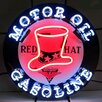 <strong>Neonetics</strong> Red Hat Gasoline Neon Sign