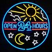 <strong>Neonetics</strong> Open 24 Hours Neon Sign
