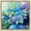 Green Leaf Art Bright Hydrangea III Framed Painting Print