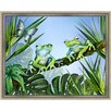 <strong>Two Blue Frogs Framed Painting Print</strong> by Green Leaf Art