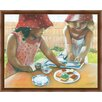 Green Leaf Art The Tea Party Framed Painting Print