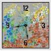 "Green Leaf Art Party Circles 16""  Art Wall Clock"