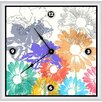 "<strong>Green Leaf Art</strong> Spring Floral Shapes 16"" Art Wall Clock"
