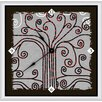 "<strong>Green Leaf Art</strong> Abstract 16"" Tree Art Wall Clock"