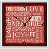 "<strong>Green Leaf Art</strong> Inspirational Words I 11"" Art Wall Clock"