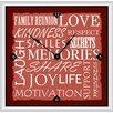 "Green Leaf Art Inspirational Words I 20"" Art Wall Clock"