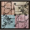 """<strong>Love and Peace 16"""" Art Wall Clock</strong> by Green Leaf Art"""