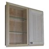 "<strong>WG Wood Products</strong> Baldwin 29.5"" x 25.5"" Single Door Recessed Medicine Cabinet"