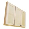 "WG Wood Products Shaker Series 43"" x 37.5"" Surface Mount Medicine Cabinet"