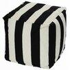 OC Fun Saks Cabana Bean Bag Cube Ottoman