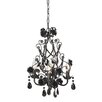 CBK Rose Beaded 4 Light Crystal Chandelier