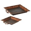 <strong>2 Piece Square Scroll Tray Set</strong> by CBK