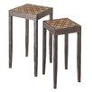 CBK 2 Piece Geometric and Burlap Nesting Tables