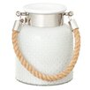 CBK La Hobnail Glass Lantern with Rope Handle