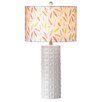 """CBK Feather Pattern 28"""" H Table Lamp with Drum Shade (Set of 2)"""