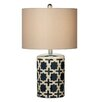 """CBK Geometric 23.5"""" H Table Lamp with Drum Shade (Set of 2)"""