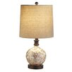 """CBK Capiz 21"""" H Table Lamp with Drum Shade (Set of 2)"""